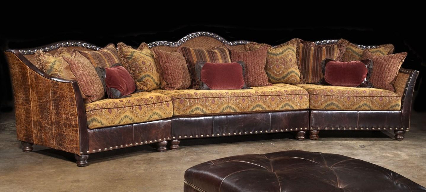 Western Furniture Custom Sectional Sofa Chairs And Hair Hide Ottoman
