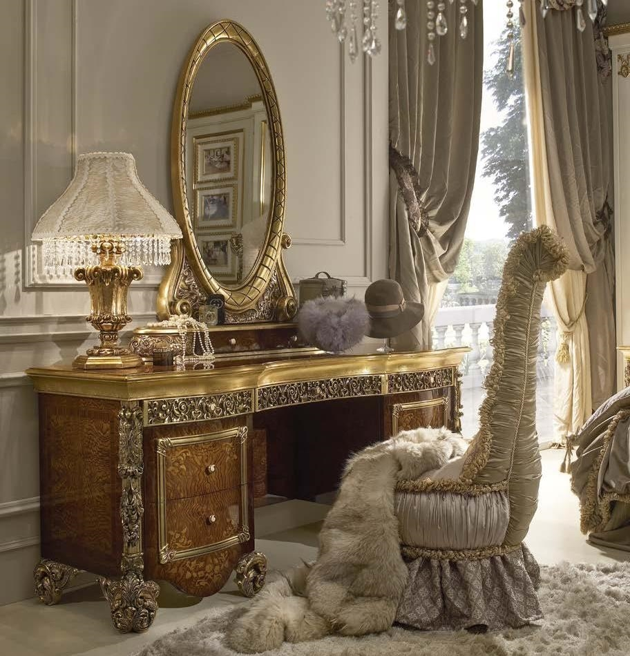 Luxury makeup vanity with mirror fit for a true queen or princess - Luxury venities ...