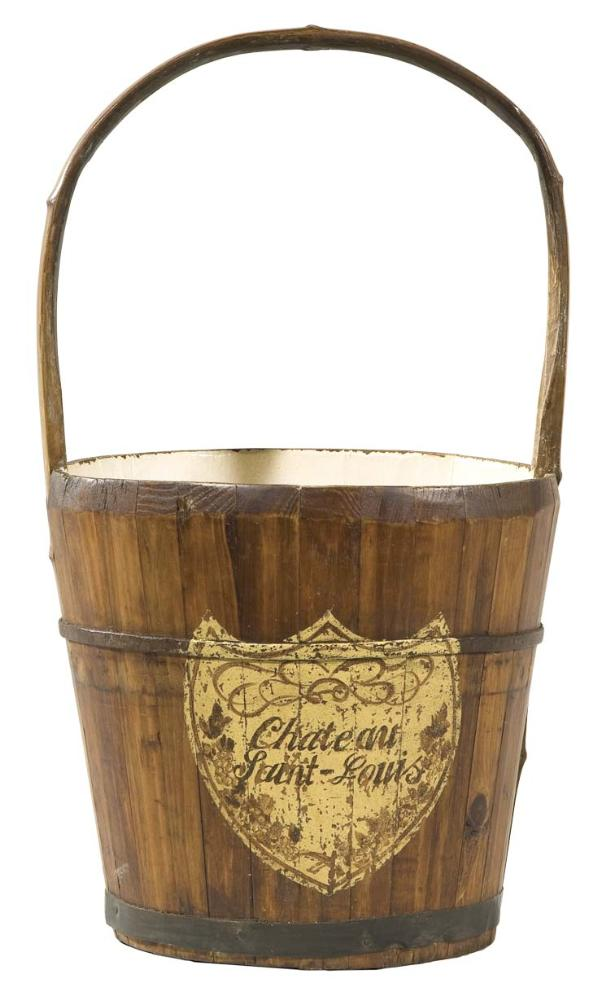 Home accents and decor wine cooler old farmers bucket painted for Decor wine cooler