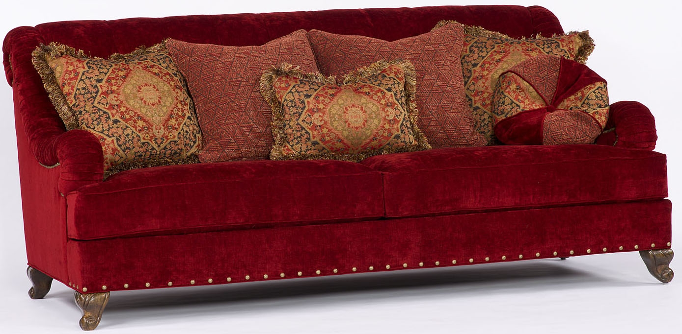 Red velvet sofa for Red velvet sectional sofa
