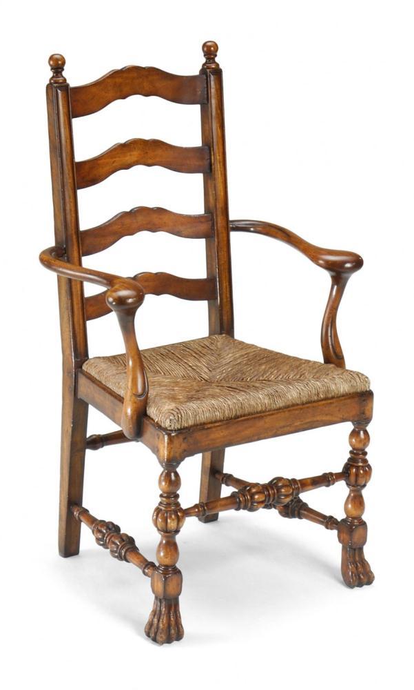 High End Dinning Room Furniture Carved Ladder Back Arm  : CarvedLadderBackArmChairp from bernadettelivingston.com size 601 x 1000 jpeg 53kB