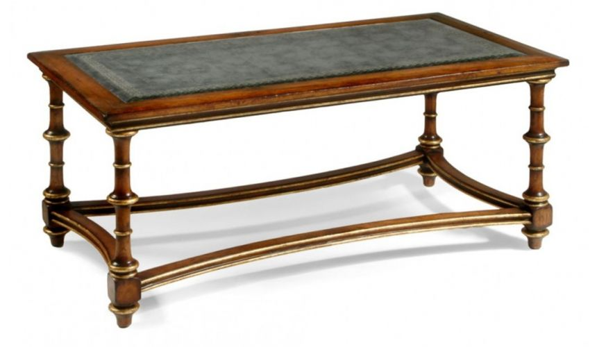 Coffee Tables High End Furniture Eglomise Glass Coffee Table