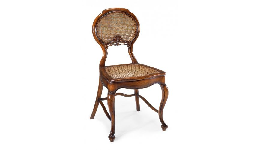 High end dining room furniture side chair with caned seat for High end dining room furniture