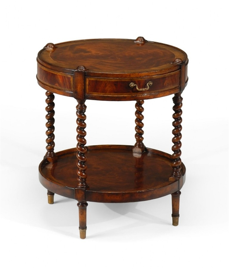 High quality furniture round side table with one drawer for Quality furniture