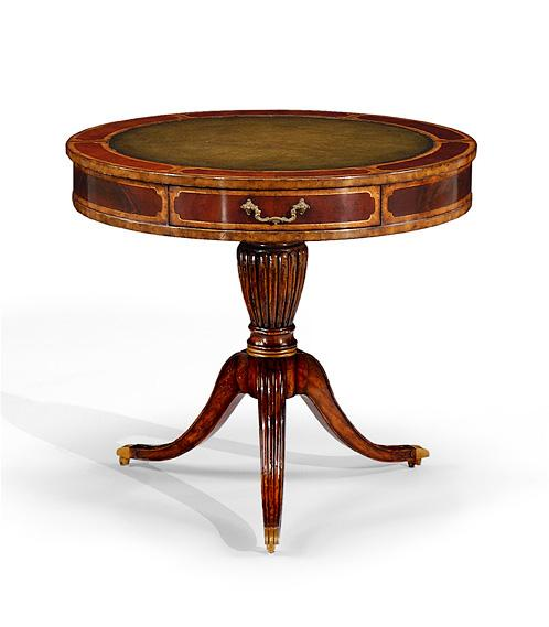 Green Foyer Table : Foyer center tables mahogany drum table green with three