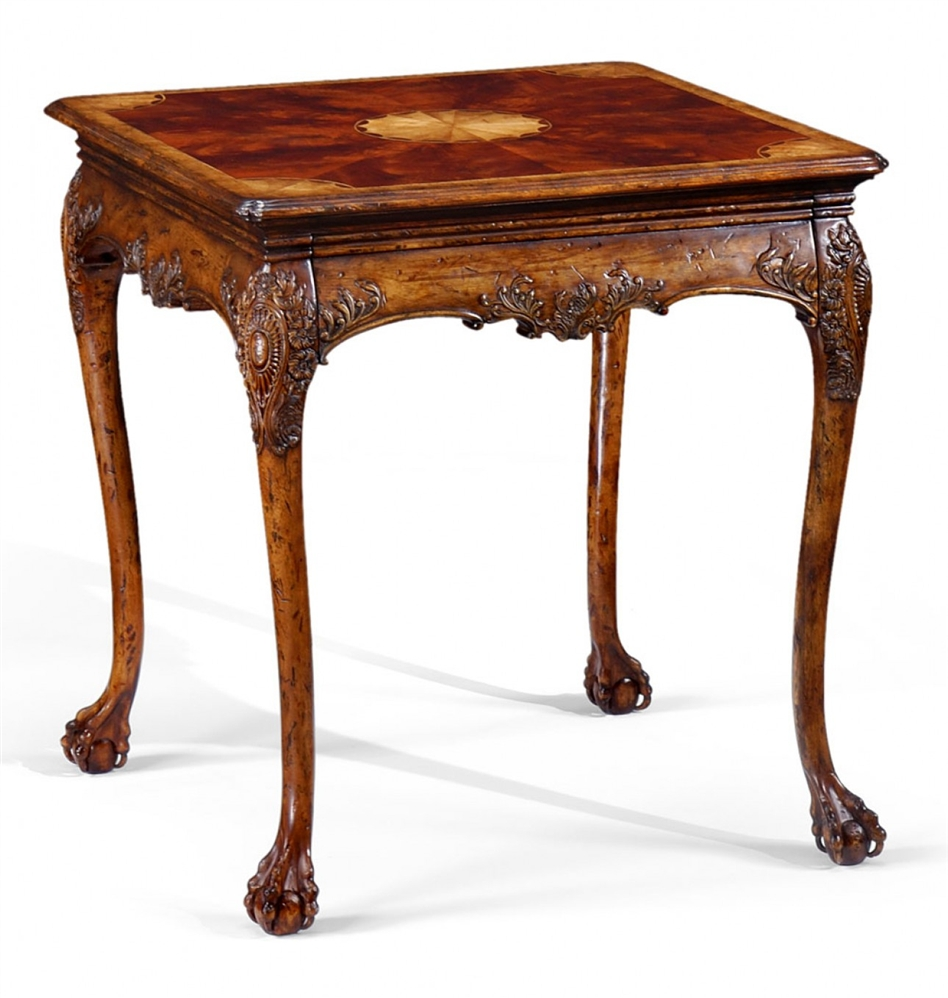 Luxury furniture carving side table in satinwood finish for Side and lamp tables