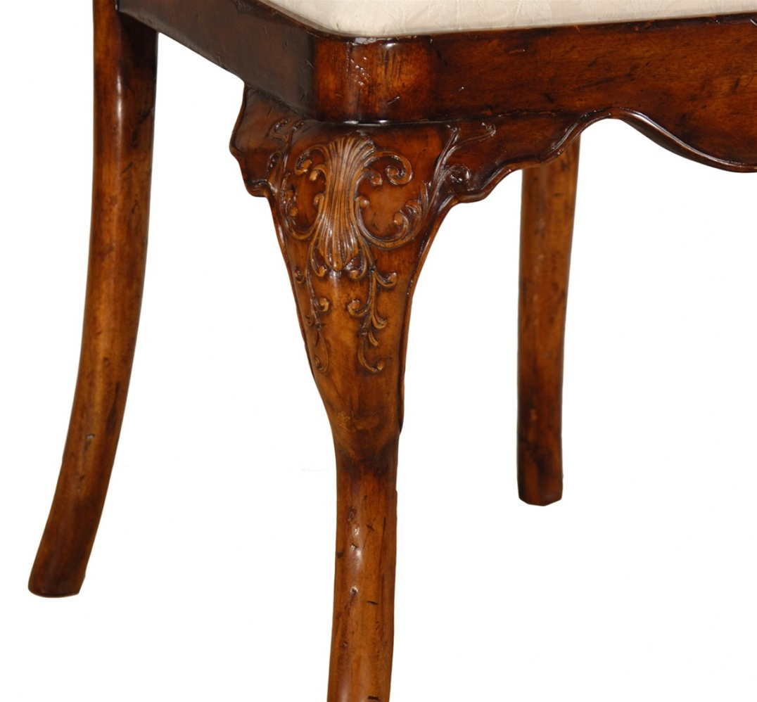 High end dining rooms furniture veneered back side chair for High end side tables