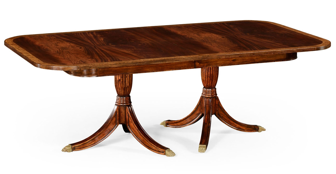 High End Dining Rooms Extending Mahogany Dining Table