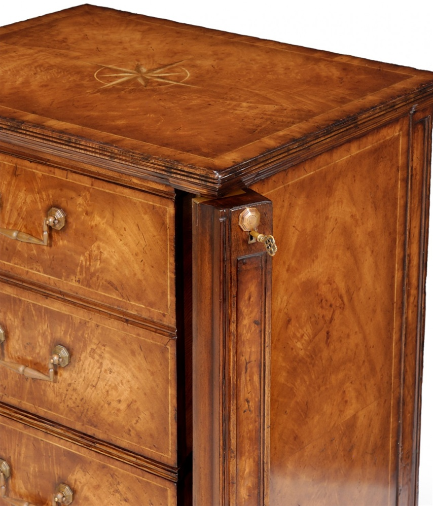 Furniture Two Drawer Filing Cabinet Ith A Hidden Compartment For Locking The Drawers