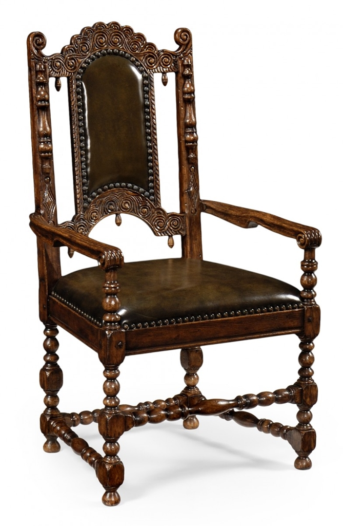 Dining table furniture carved oak arm chair model 593203 dinning table
