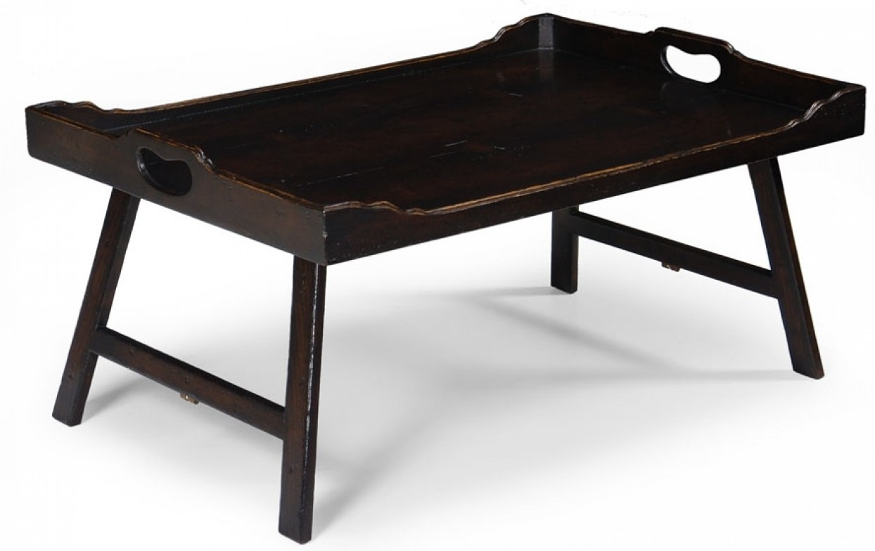 High End Furniture Breakfast Tray And Leg with distressed plank top ...