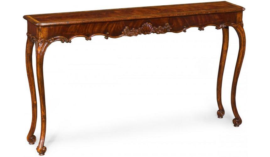 ... Console & Sofa Tables > Elegant Classically Style Mahogany Console