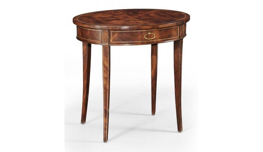 Quality Furniture : Quality Furniture Oval Side Table, Bernadette Livingston Furniture ...