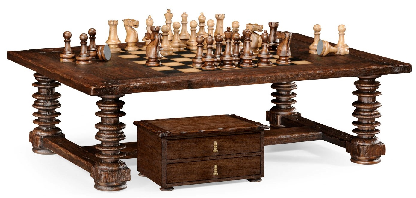 High End Furniture Rectangular Coffee Game Table Bernadette Livingston Furniture Provides The