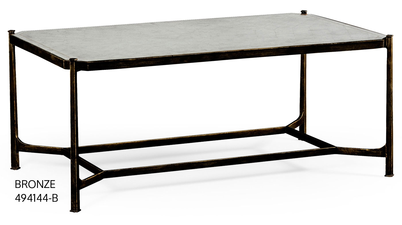 Contemporary rectangular glass top coffee table for Designer glass coffee tables