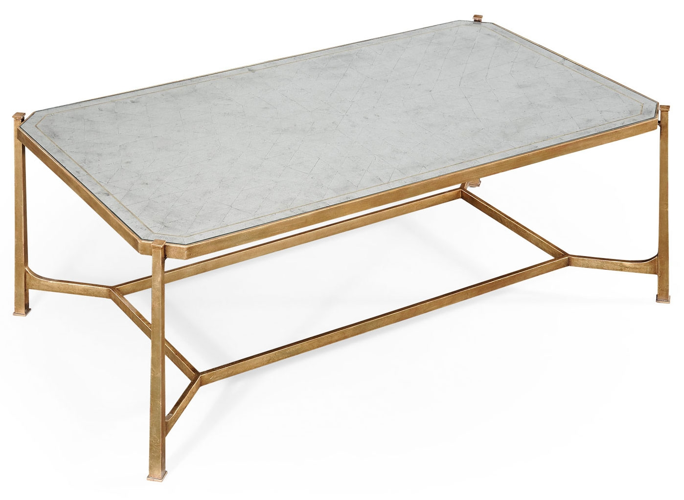 Contemporary Rectangular Glass Top Coffee Table: glass top for coffee table