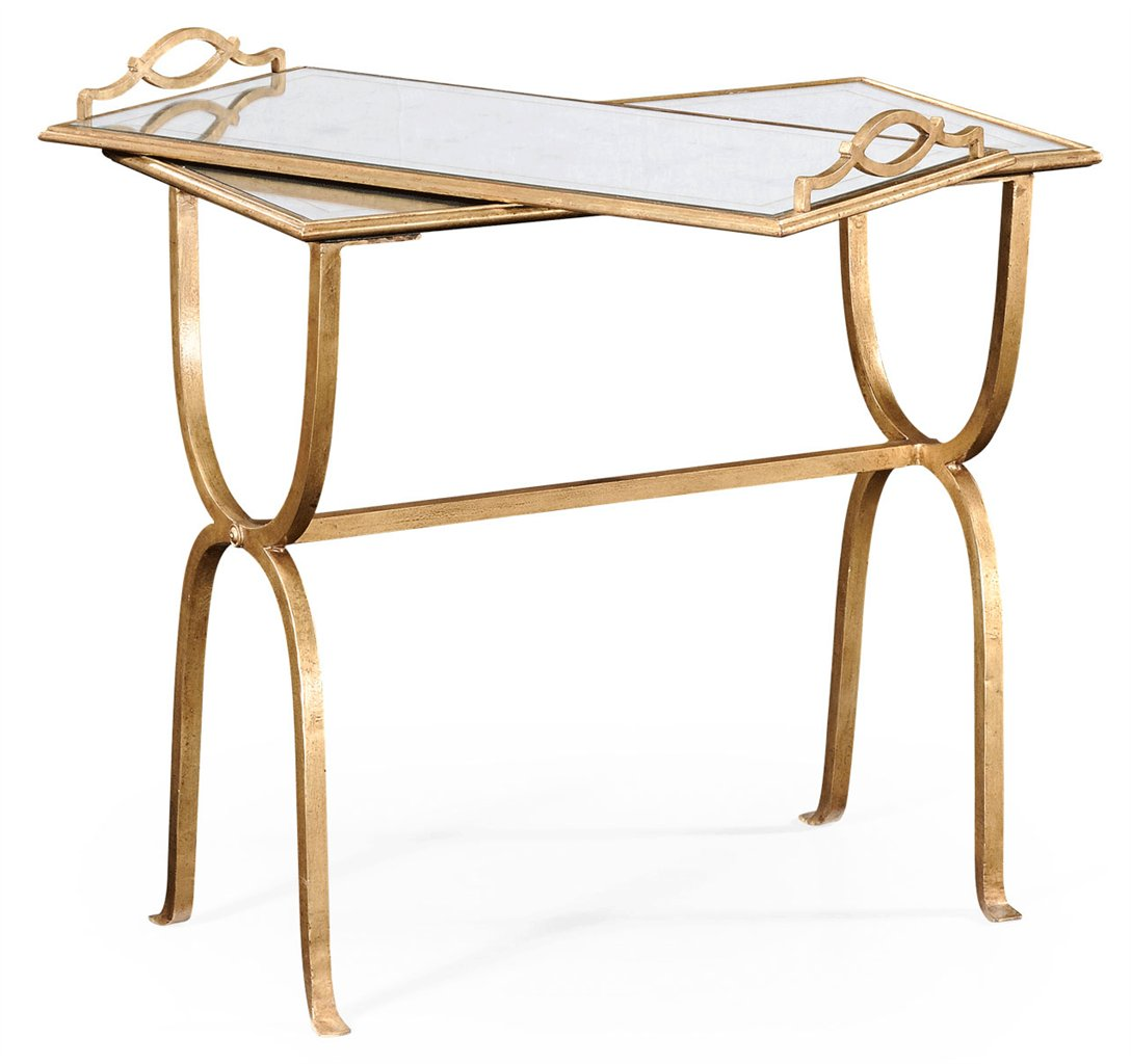 Wrought iron rectangular side table for Wrought iron side table