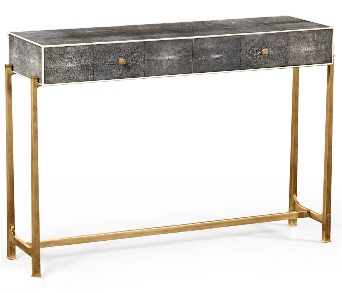 Contemporary Styled Wrought Iron Framed Console Table