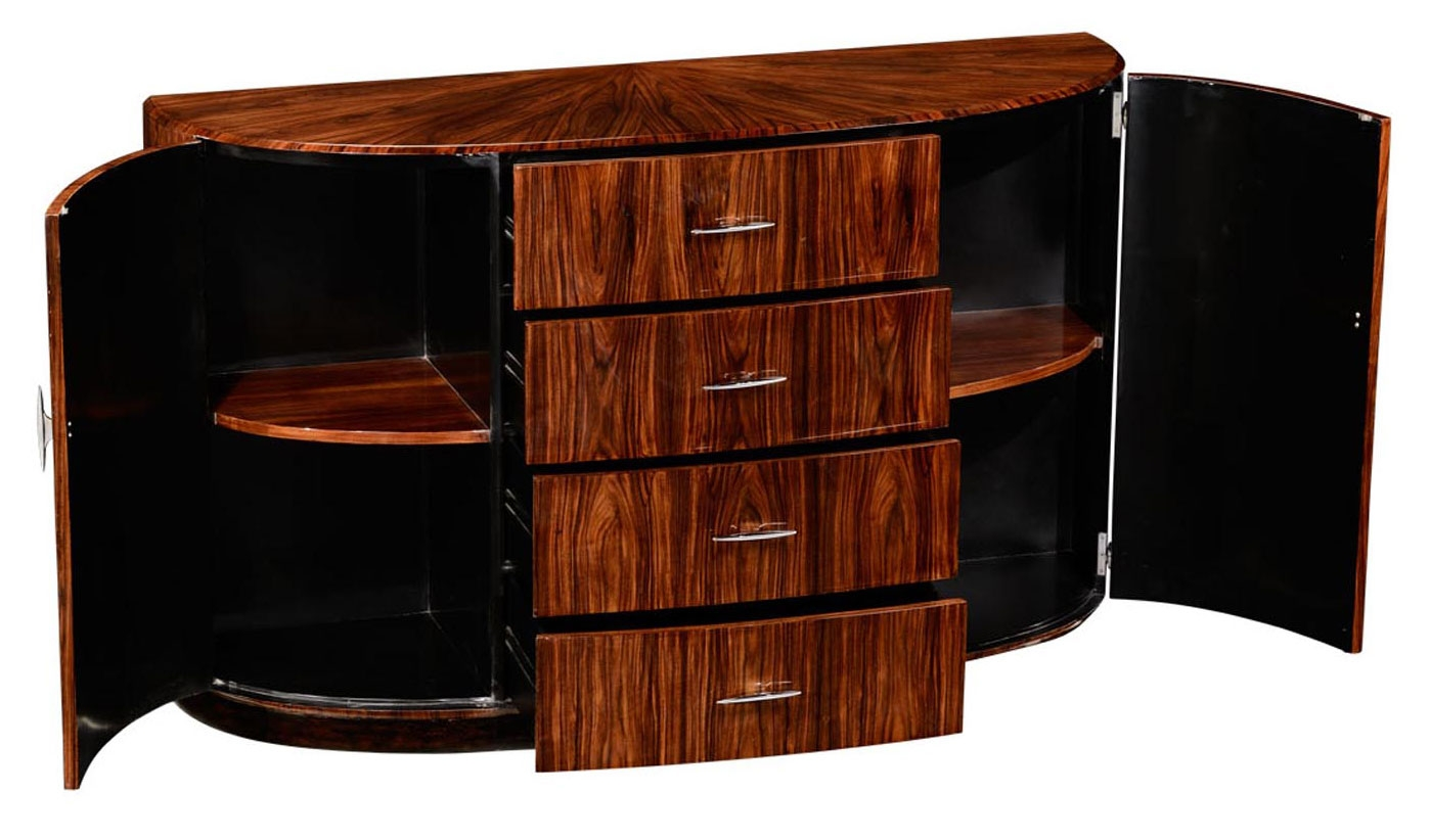 Art Deco Foyer Furniture : Art deco style demilune sideboard with four drawers