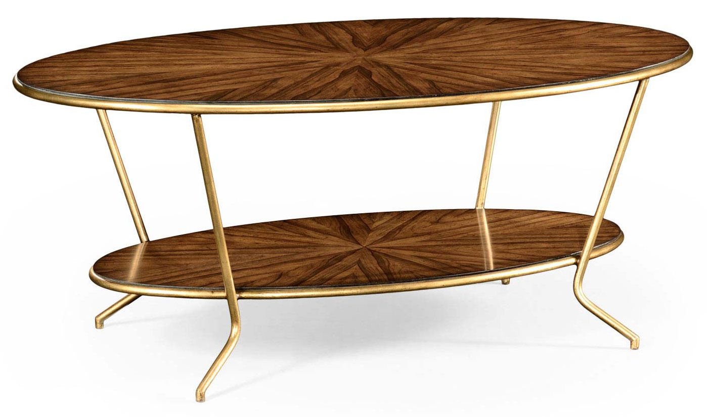 Contemporary Styled Oval Coffee Table