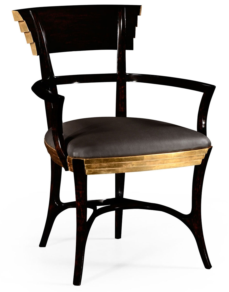 Armchair for Living Room, Gilt Armchair