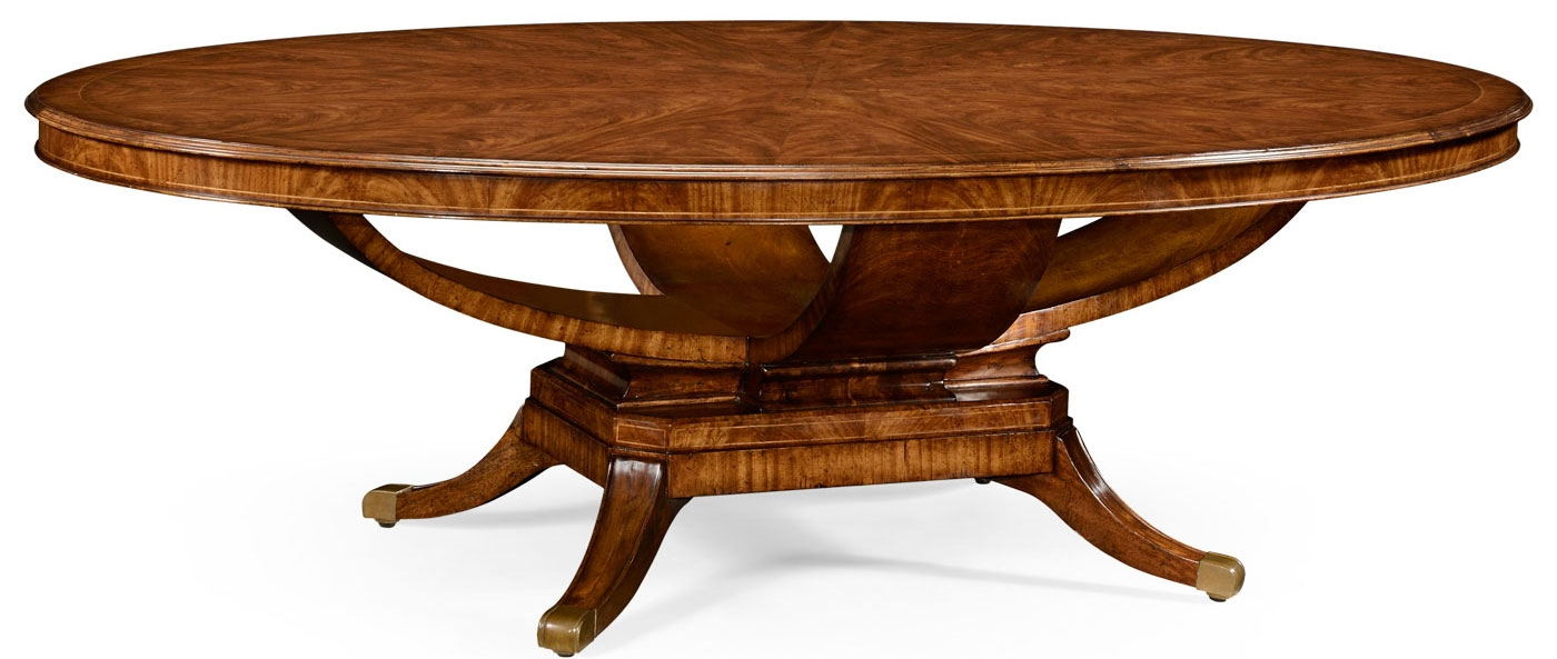 Biedermeier style oval dining table for Styling a dining table