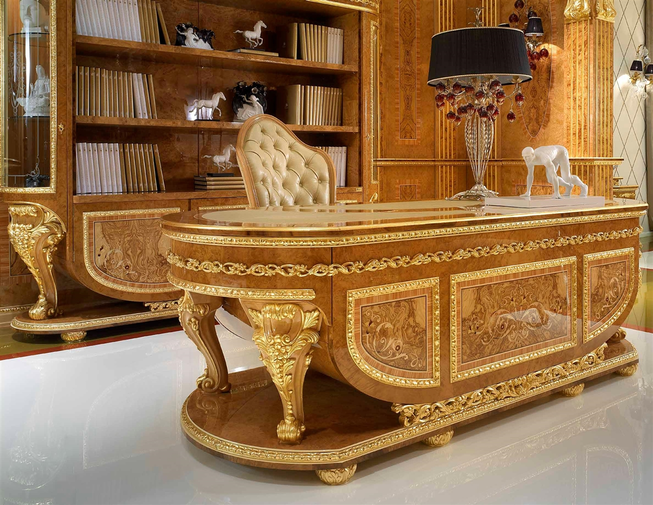 Elegant home office from our modern day czar collection for Elegant furniture