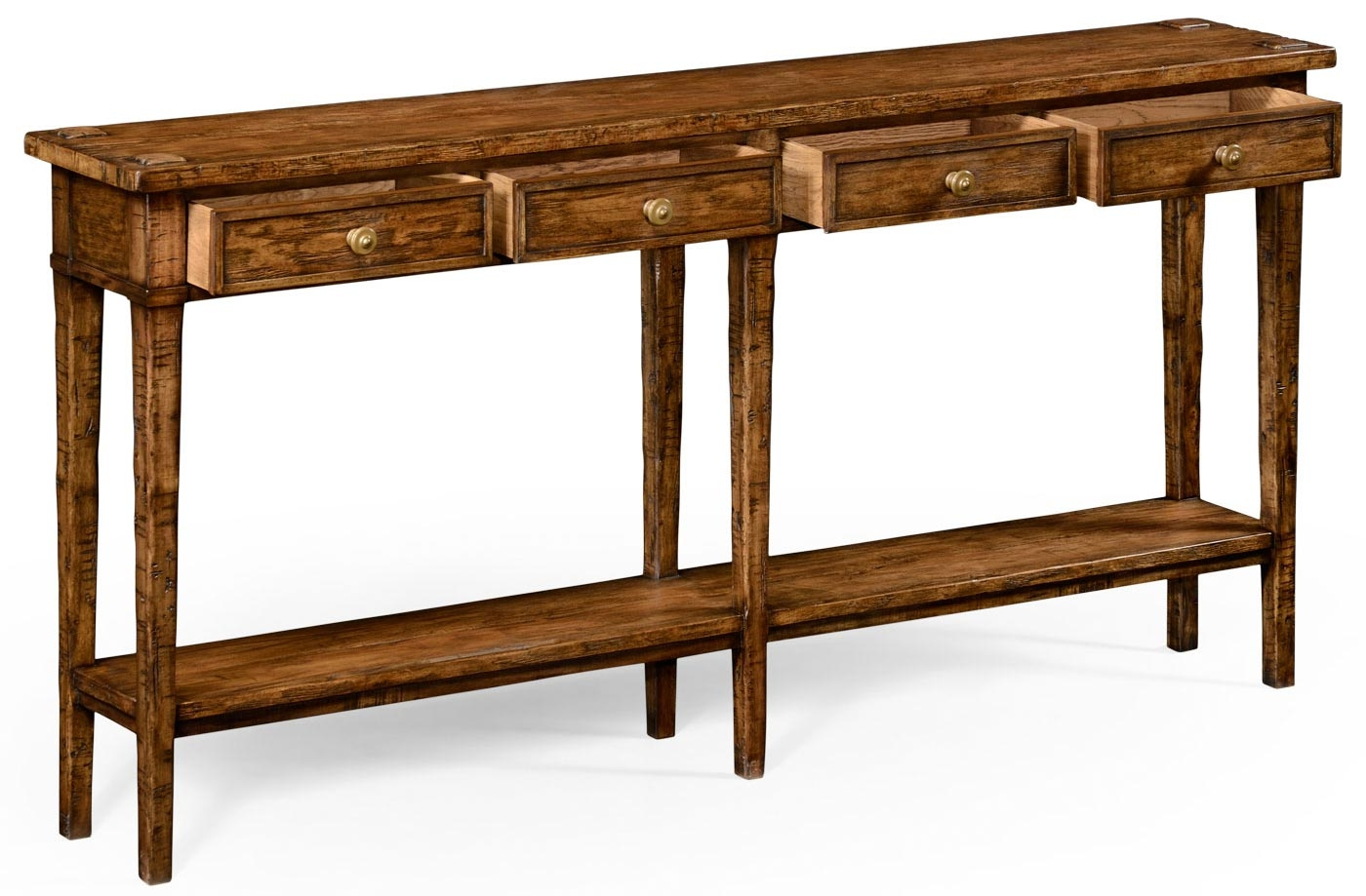 Rectangular Walnut Narrow Console Table