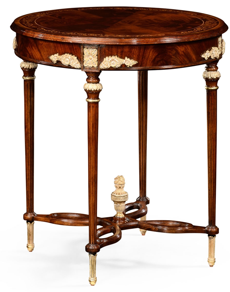 Napoleon iii style center table for Html table center