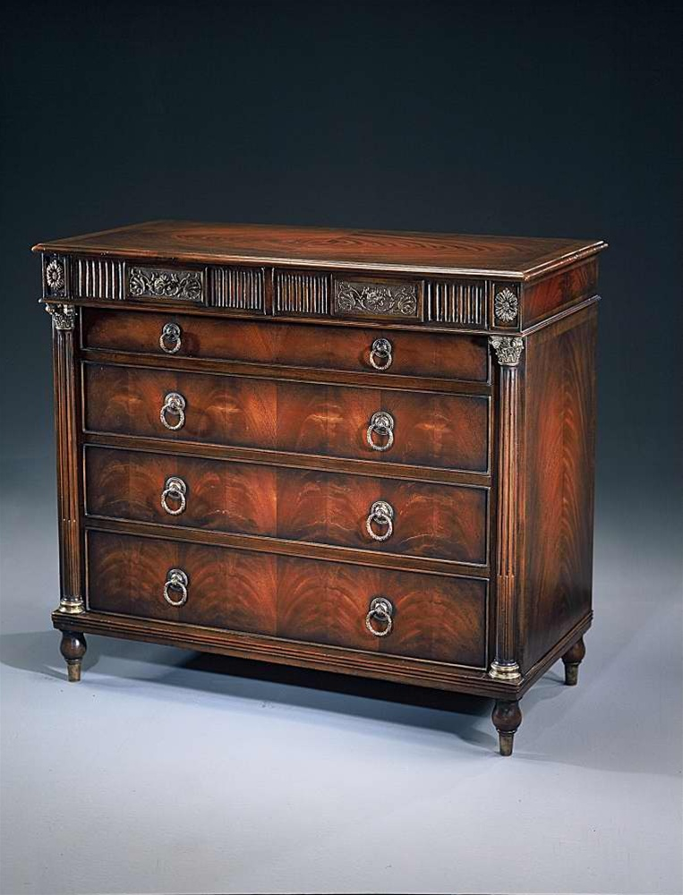 an empire mahogany chest of drawers antique reproduction. Black Bedroom Furniture Sets. Home Design Ideas