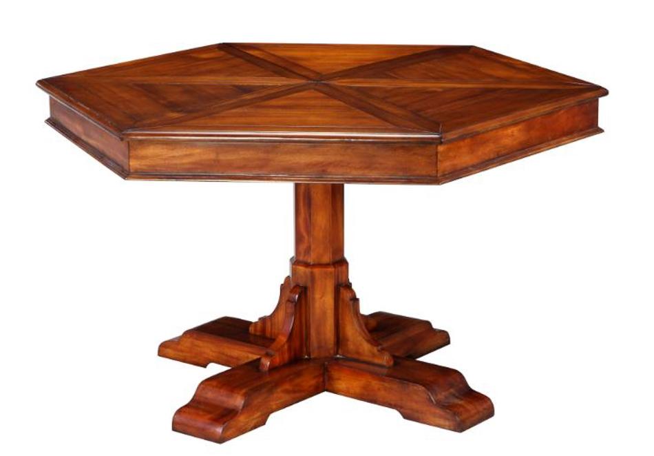 Hexagonal table with self storing leaves : Hexagonaldiningtablep from bernadettelivingston.com size 950 x 662 jpeg 171kB