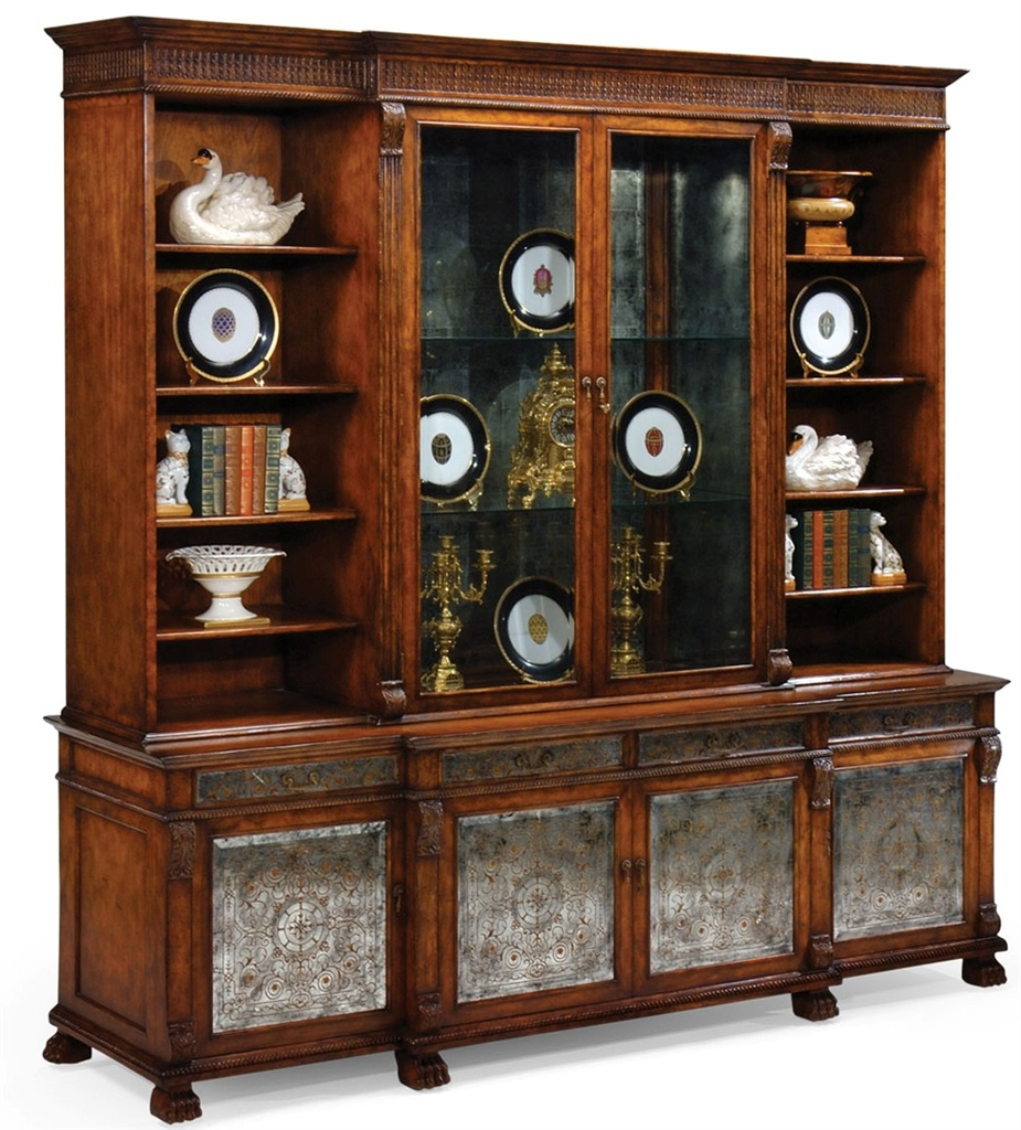 Thomasville China Cabinet Breakfront Mahogany Dining Room Art