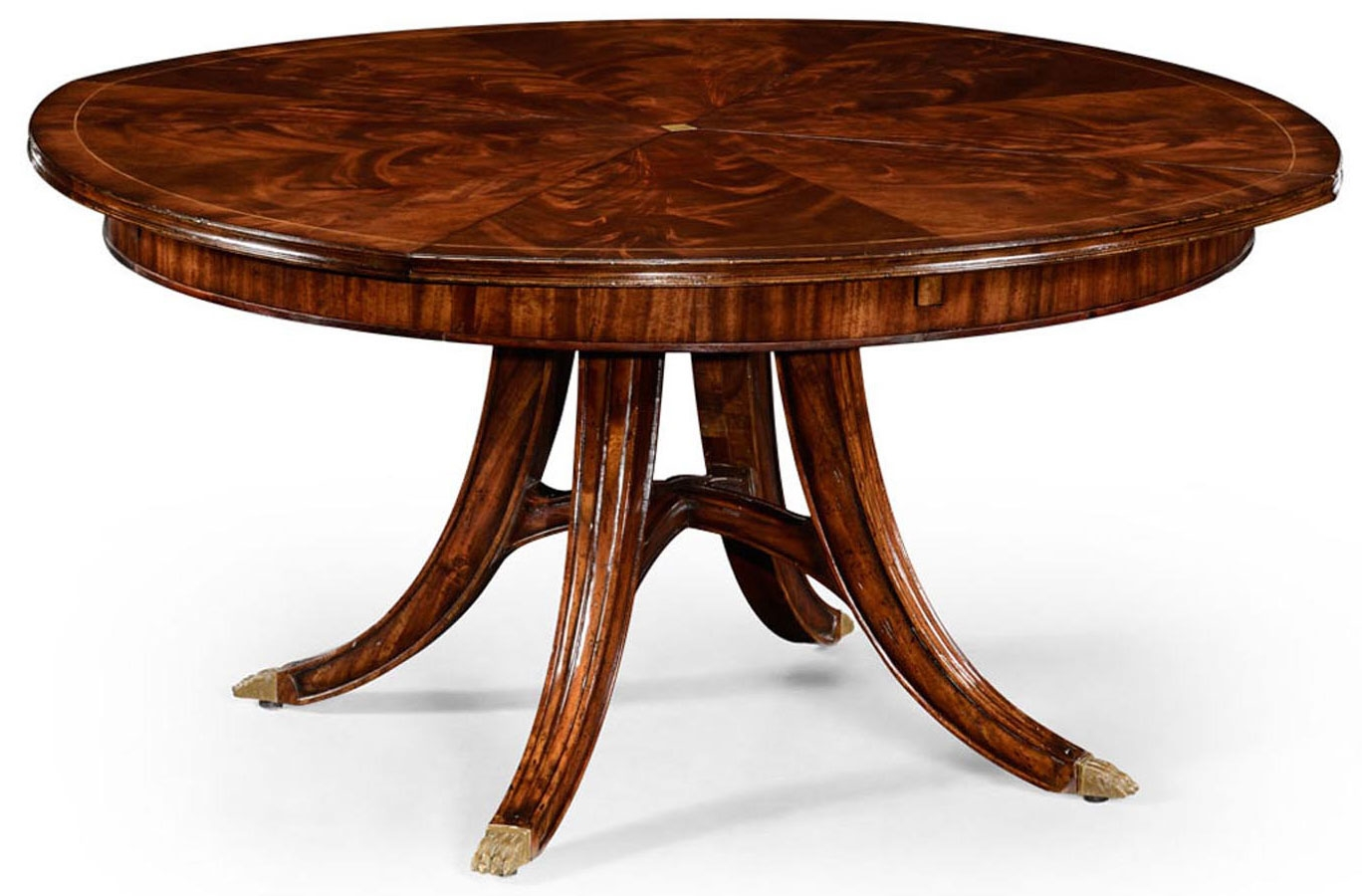 mahogany circular dining table set