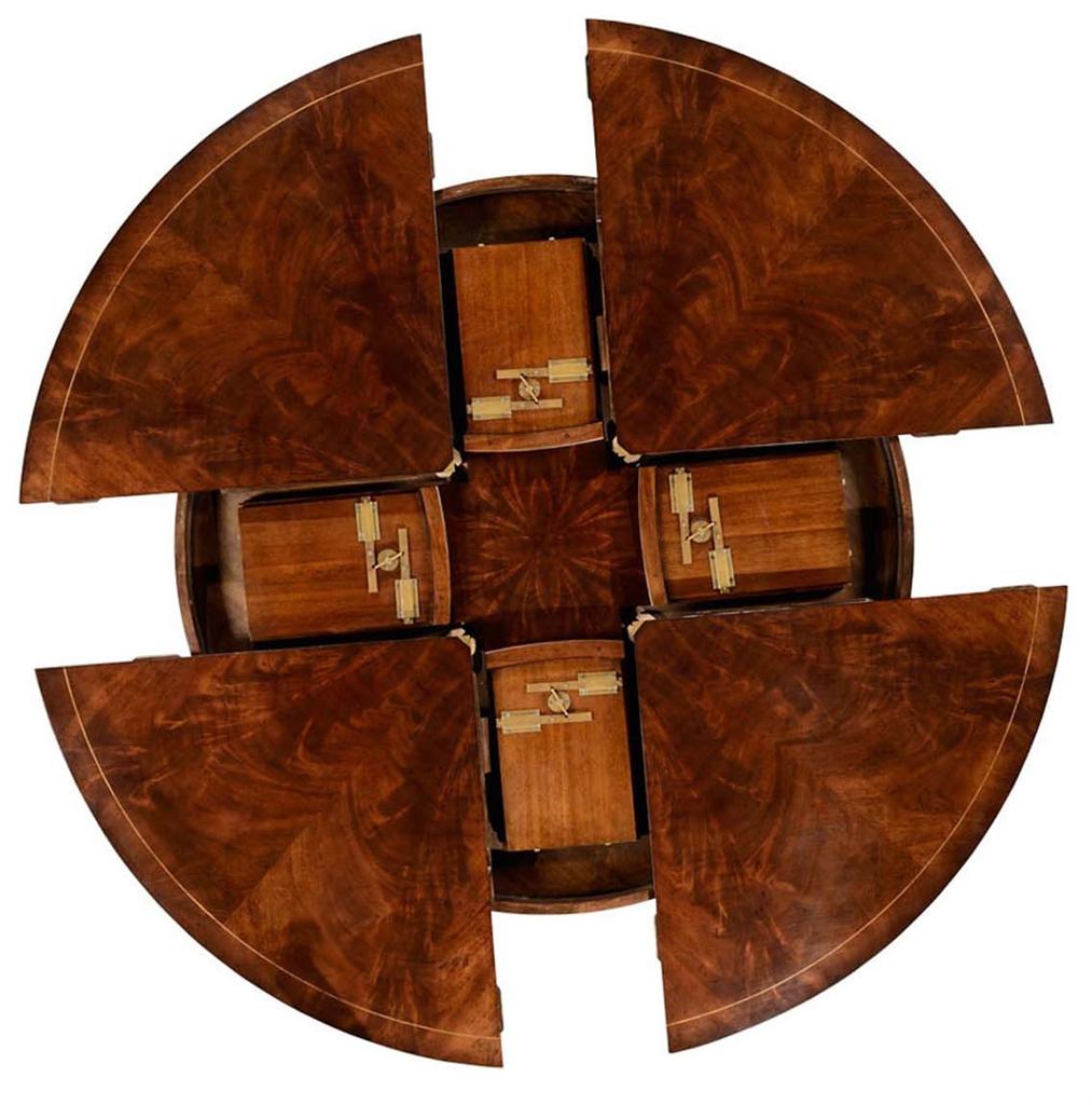 mahogany circular dining table set