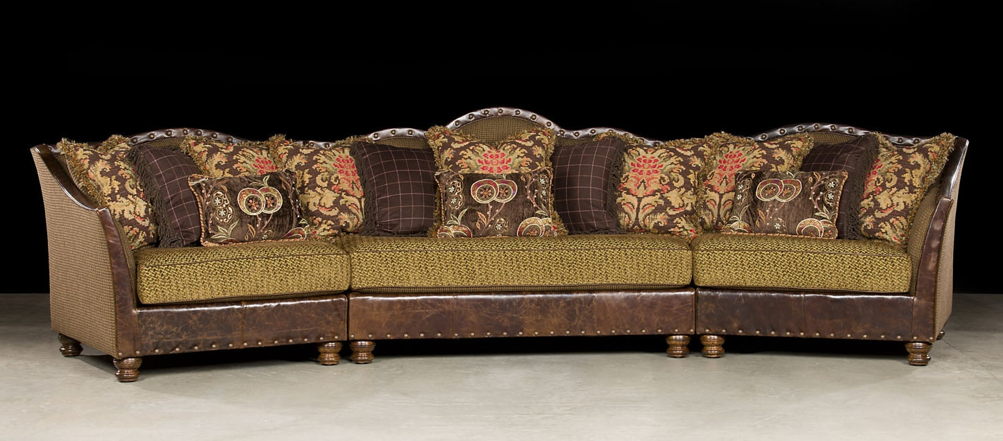 fy Fabric with Leather Sectional p