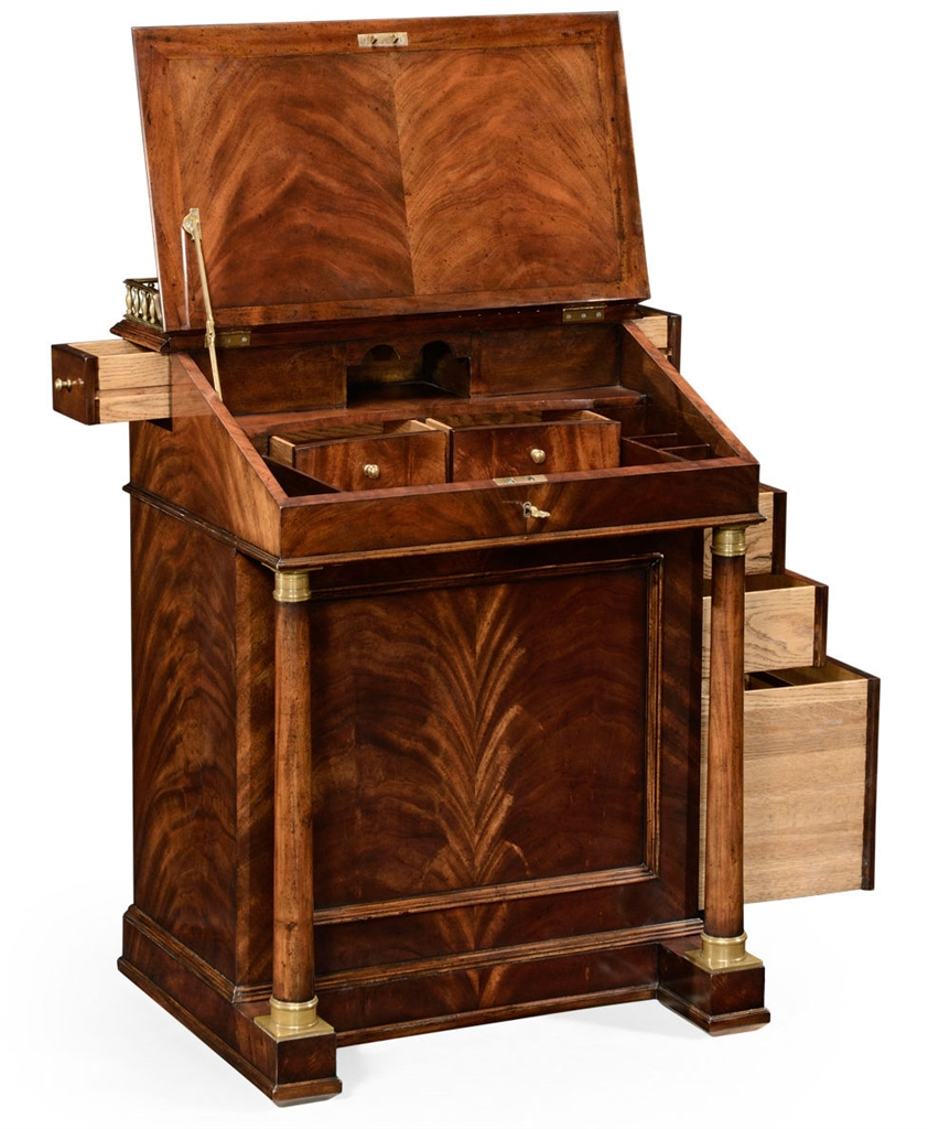 Classic antique reproduction furniture davenport cabinet for Classic furniture products vadodara
