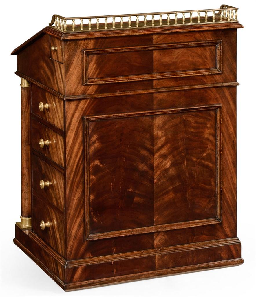 Classic antique reproduction furniture davenport cabinet
