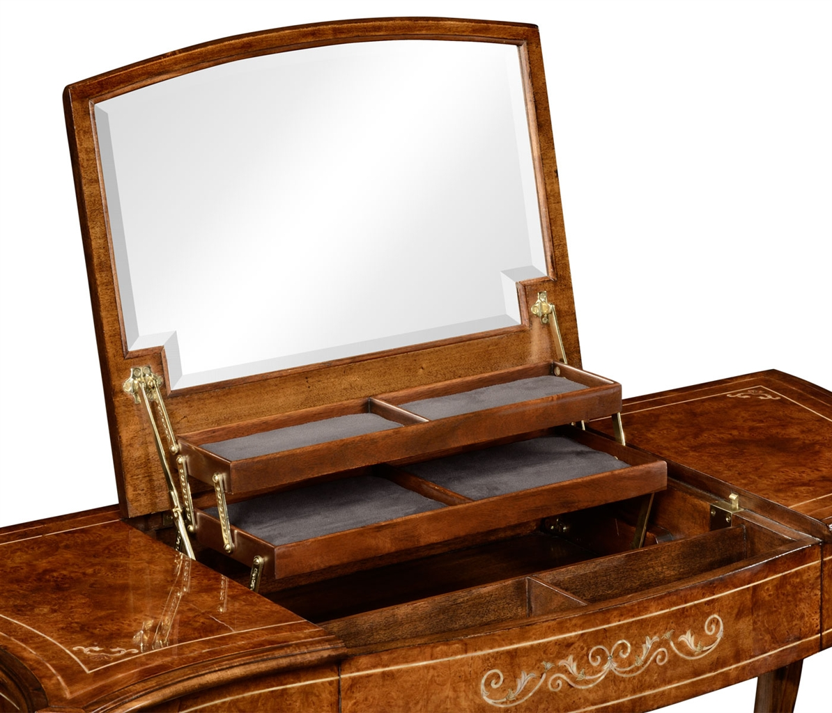 Dressing table with mirror luxury furniture for Furniture and mirror