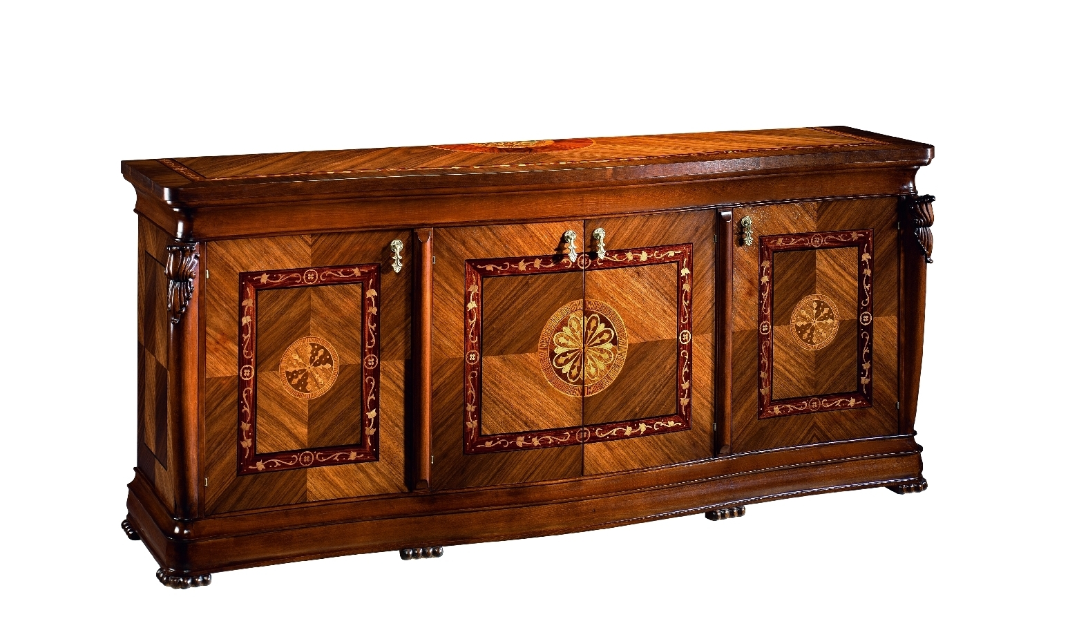 best of european made furniture cradenza with marquetry