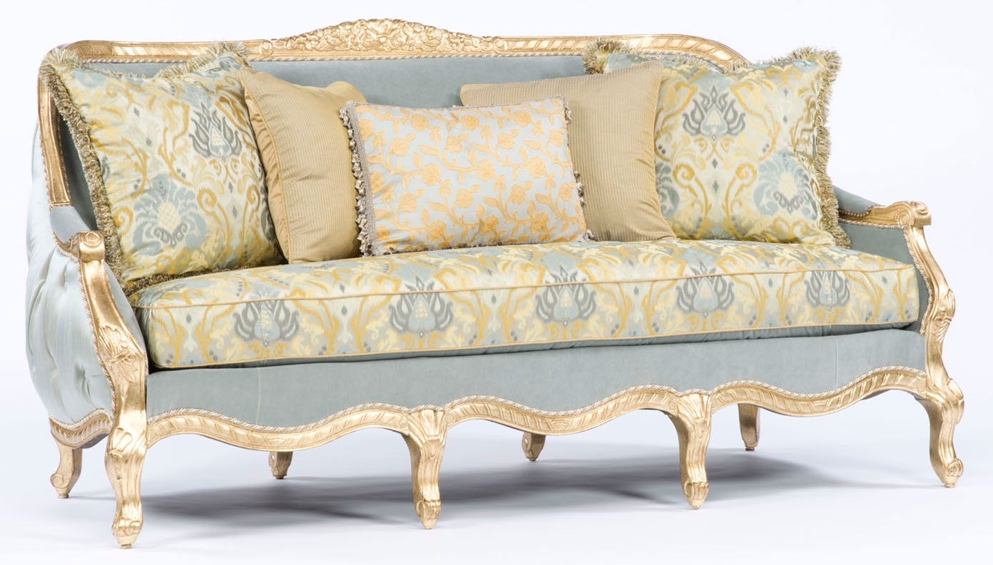 French style sofa tufted luxury furniture for French divan chair