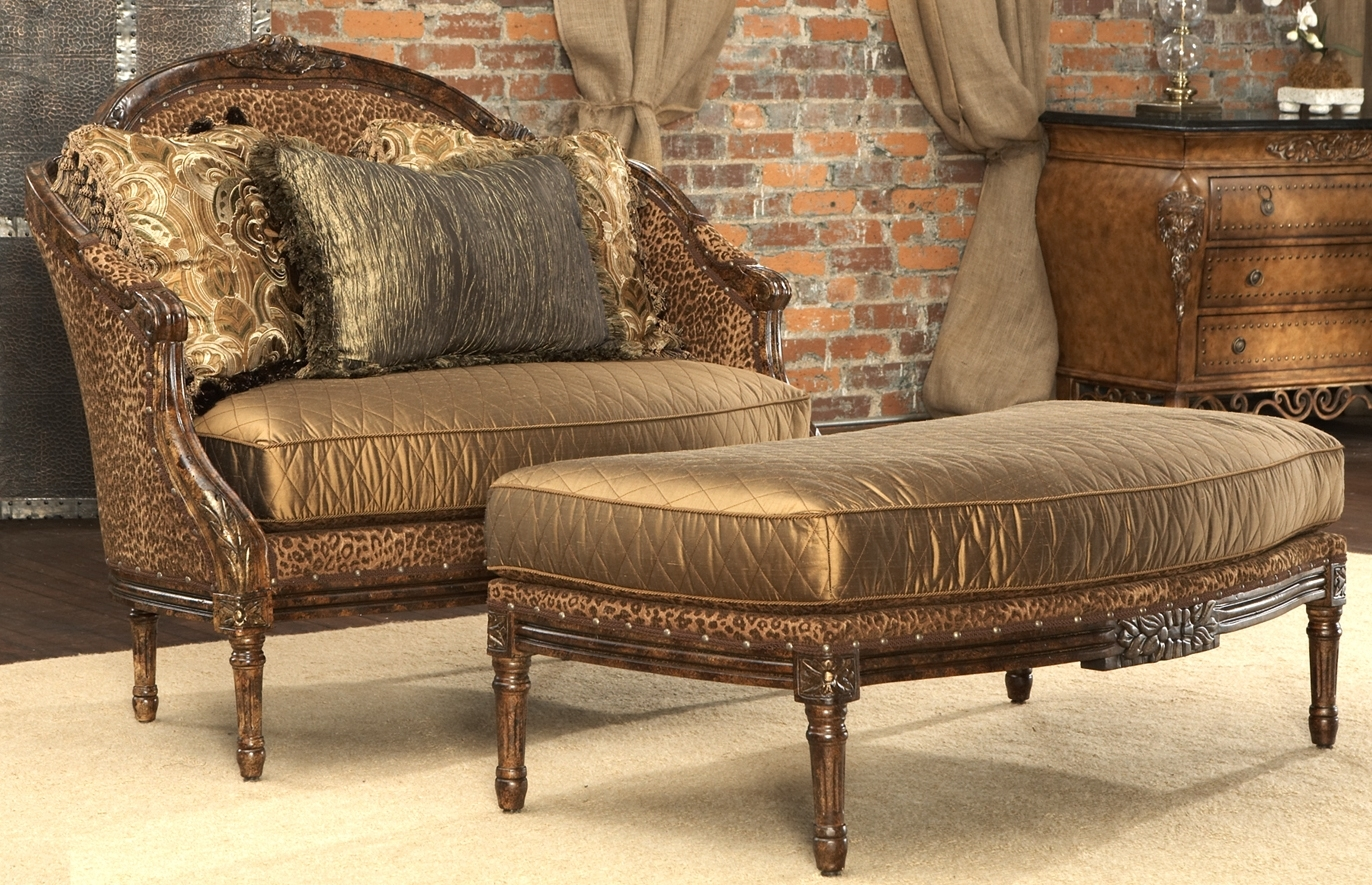 Leopard print settee luxury fine home furnishings and for Home decor and furniture