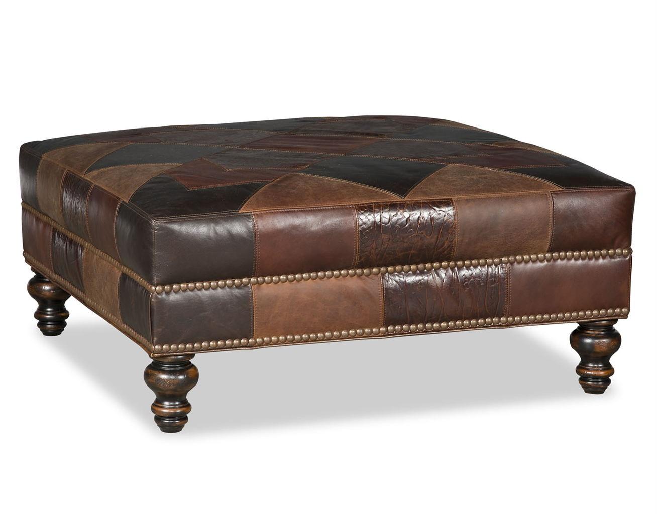 Checkered Small Ottoman Bench