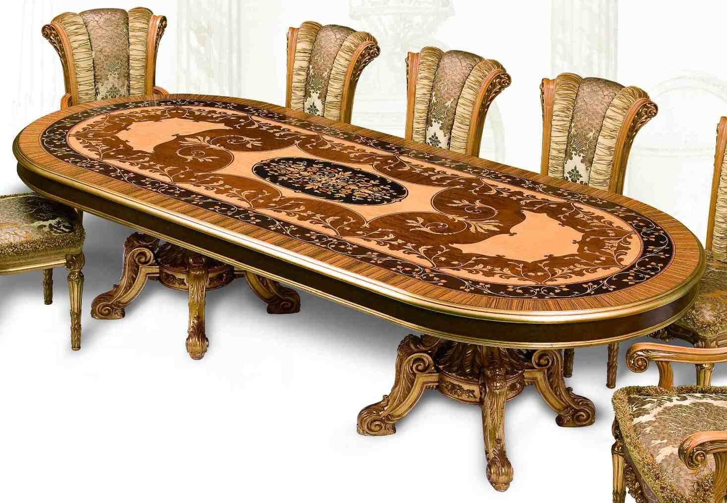 11 luxury dining furniture exquisite empire style dining set for Com furniture