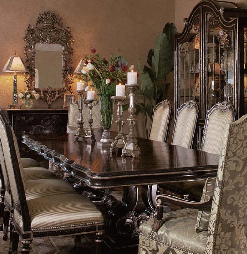 Luxury dining furniture dining set for Luxury dining room furniture