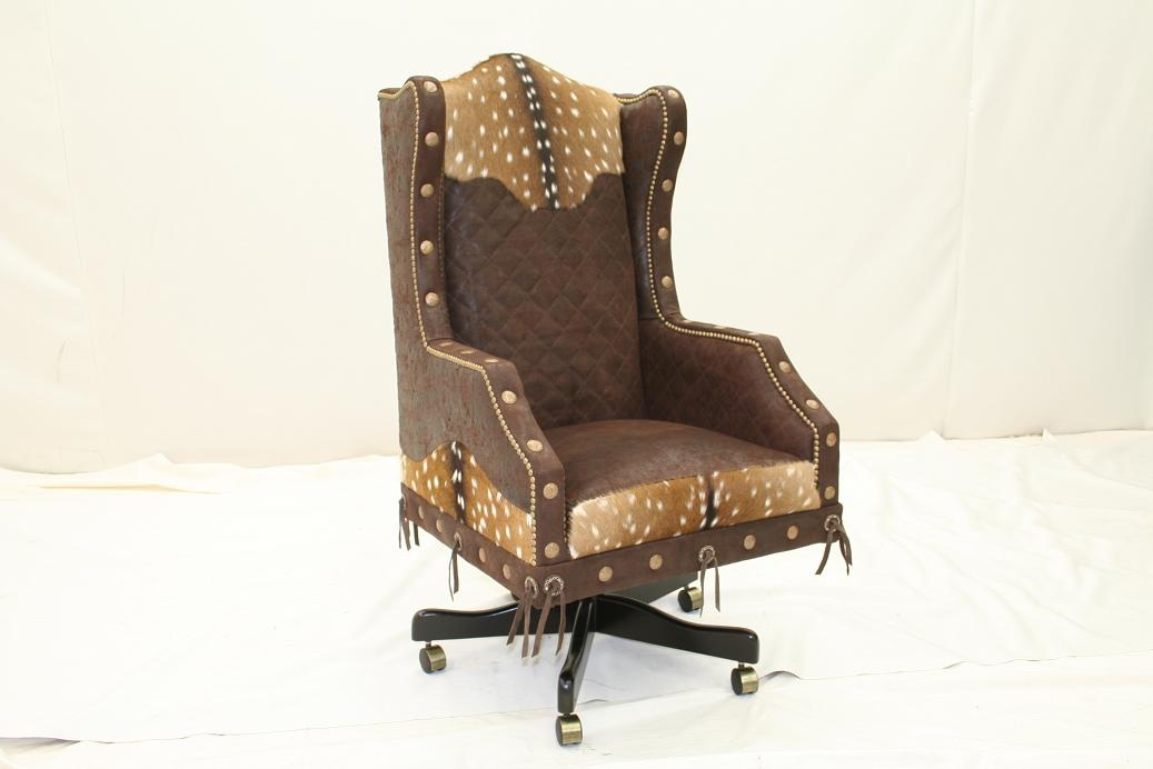 Luxury home and office furniture diamond stitched desk chair for Upscale home office furniture