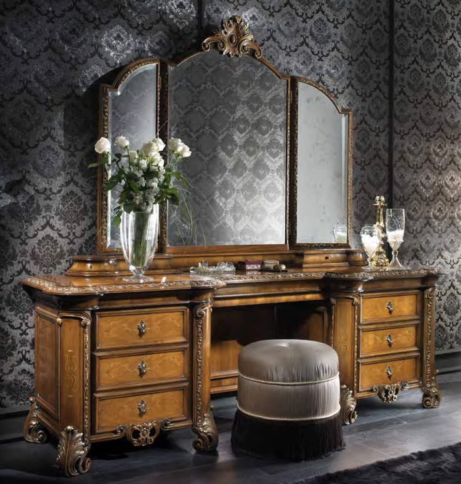 Luxury makeup vanity. High end Italian furniture.