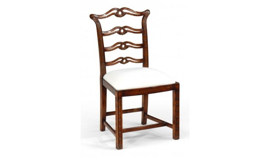 high end dining room furniture side chair with carved back