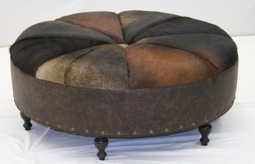 American Made Round Leather Sofa Furniture