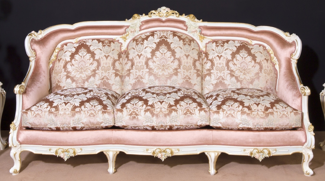 Perfectly Pink Sofa And Arm Chair Handmade In Europe