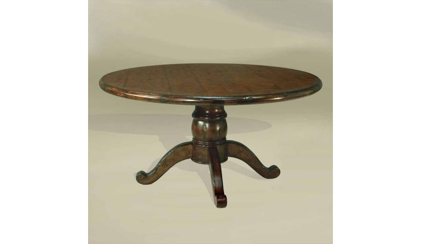 Dining Tables Rustic Home Bar Furniture 60 Round Chestnut